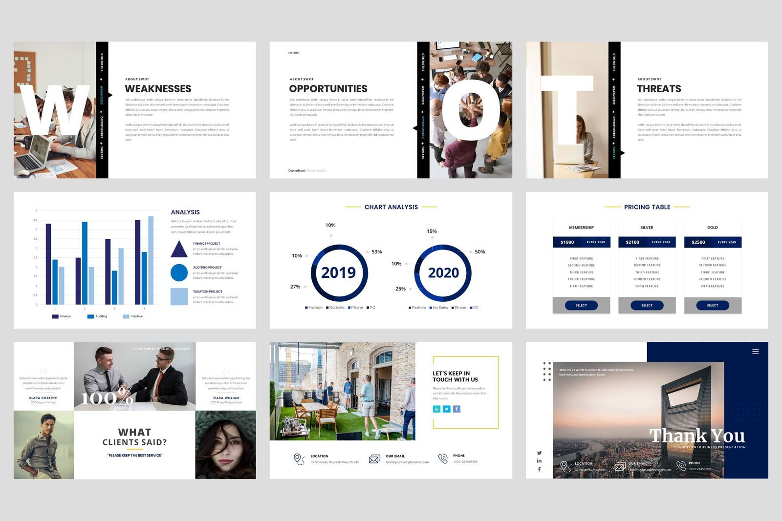 Business - Consultant Finance PowerPoint Template, Slide 5, 08597, Presentation Templates — PoweredTemplate.com