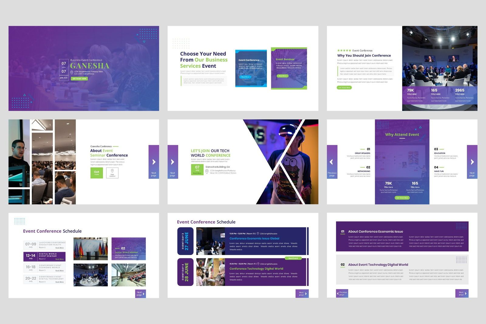 Conference - Event Business PowerPoint Template, Slide 2, 08601, Presentation Templates — PoweredTemplate.com