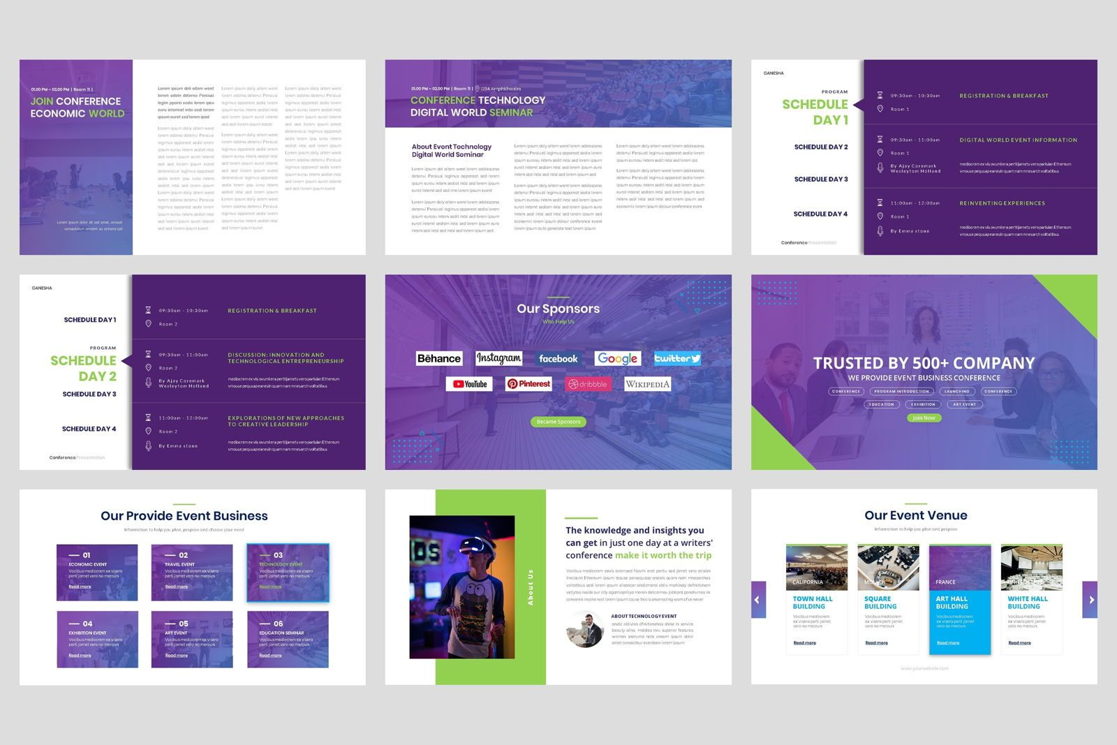 Conference - Event Business PowerPoint Template, Slide 3, 08601, Presentation Templates — PoweredTemplate.com