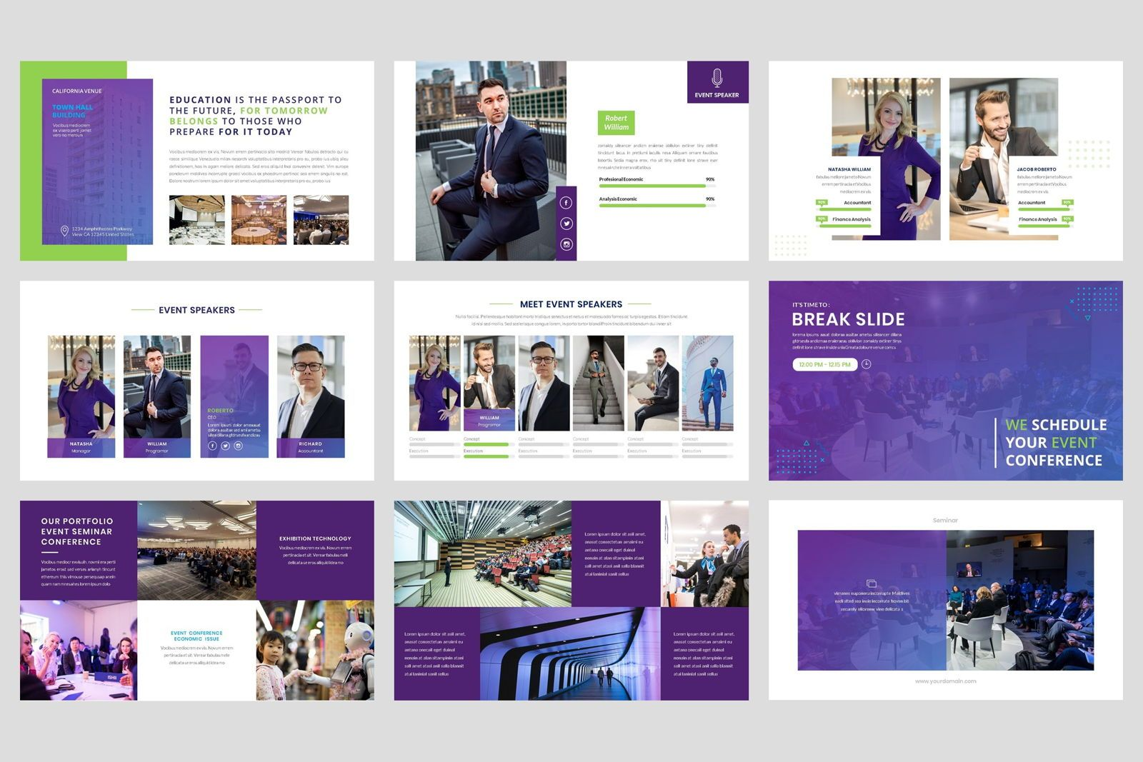 Conference - Event Business PowerPoint Template, Slide 4, 08601, Presentation Templates — PoweredTemplate.com