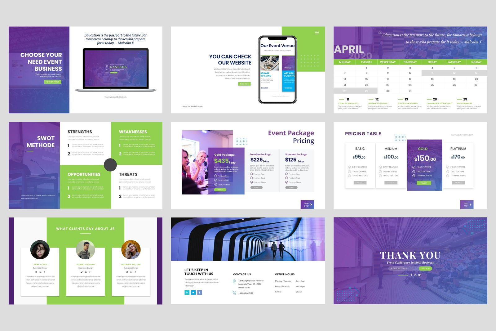 Conference - Event Business PowerPoint Template, Slide 5, 08601, Presentation Templates — PoweredTemplate.com