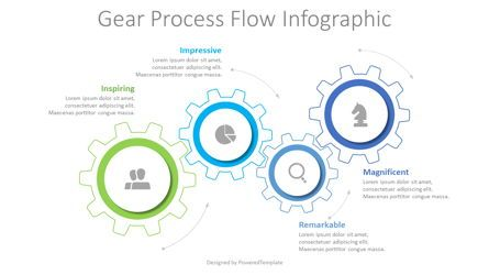 Process Diagrams: Gear Process Flow Infographic #08602