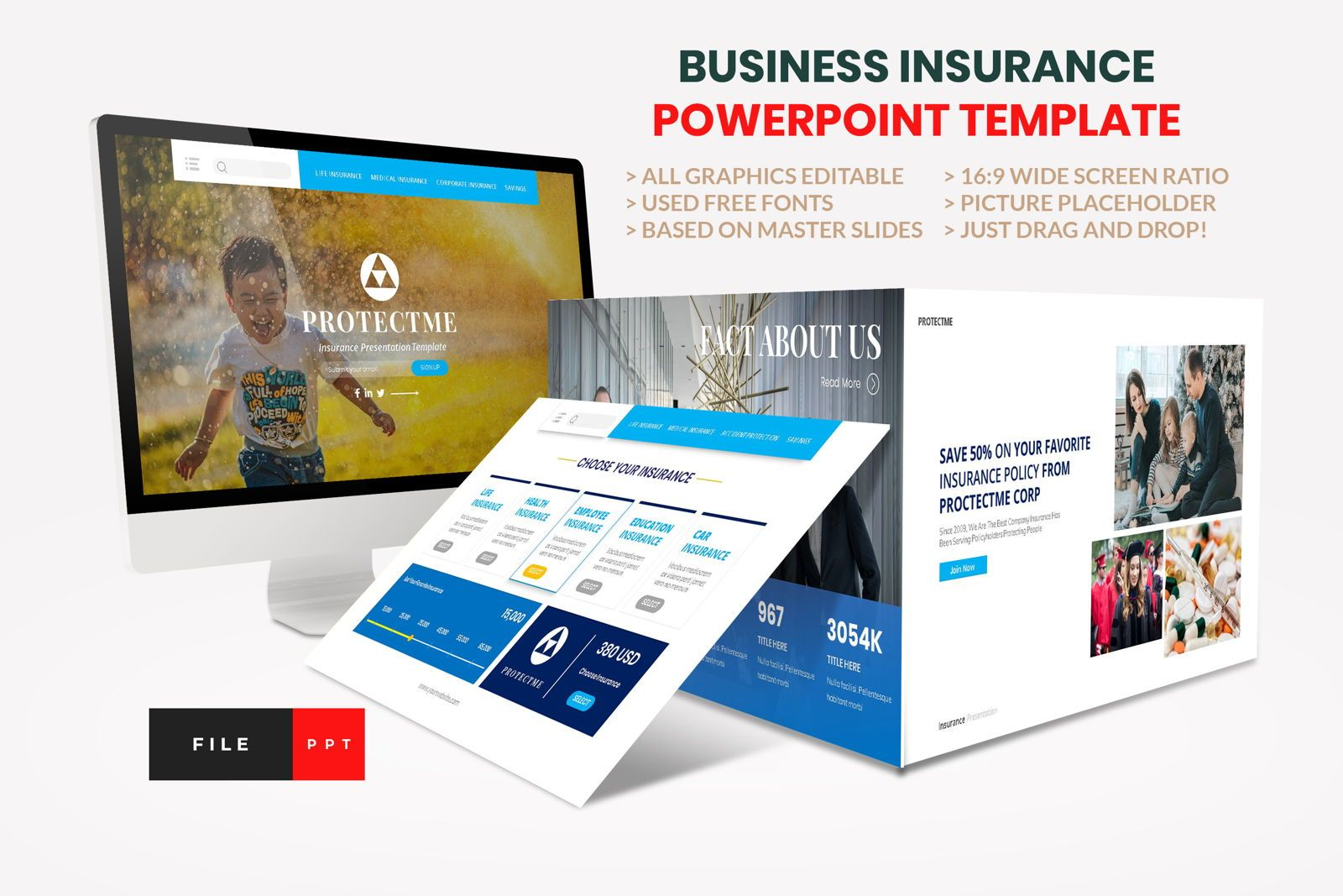 Insurance - Business Consultant PowerPoint Template, 08604, Presentation Templates — PoweredTemplate.com