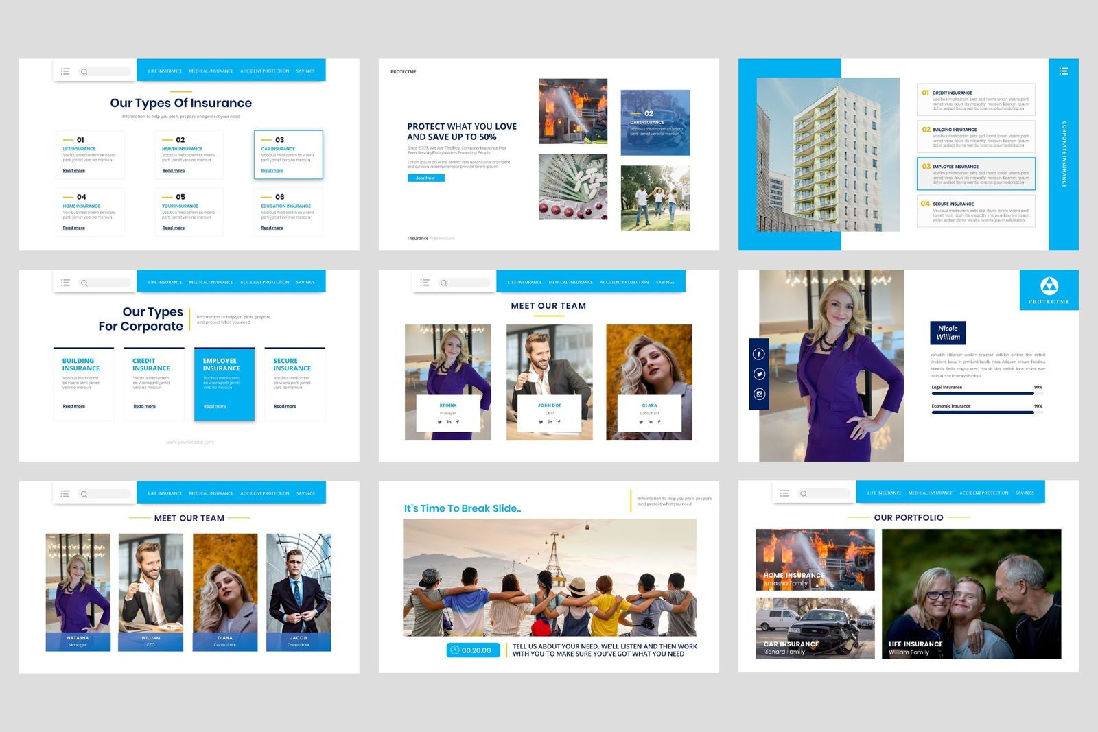 Insurance - Business Consultant PowerPoint Template, Slide 3, 08604, Presentation Templates — PoweredTemplate.com