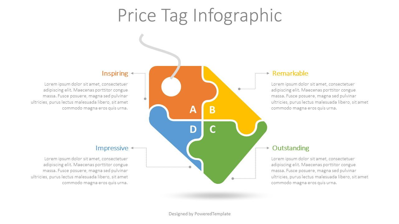 Price Tag Infographic, 08605, Infographics — PoweredTemplate.com