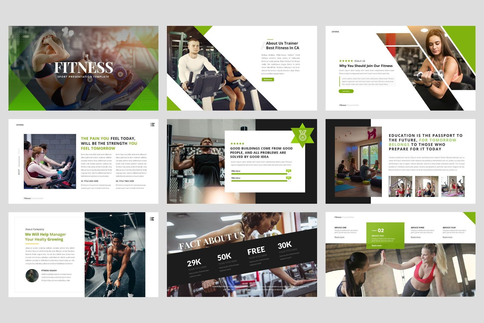 Sport - Fitness Business Workout PowerPoint Template, Slide 2, 08607, Presentation Templates — PoweredTemplate.com