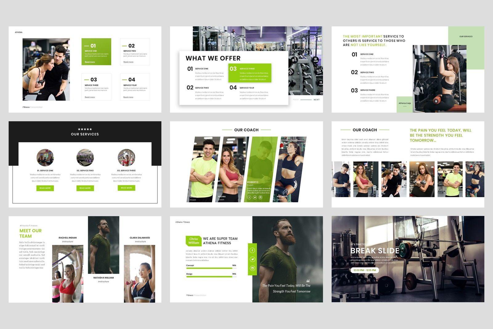 Sport - Fitness Business Workout PowerPoint Template, Slide 3, 08607, Presentation Templates — PoweredTemplate.com