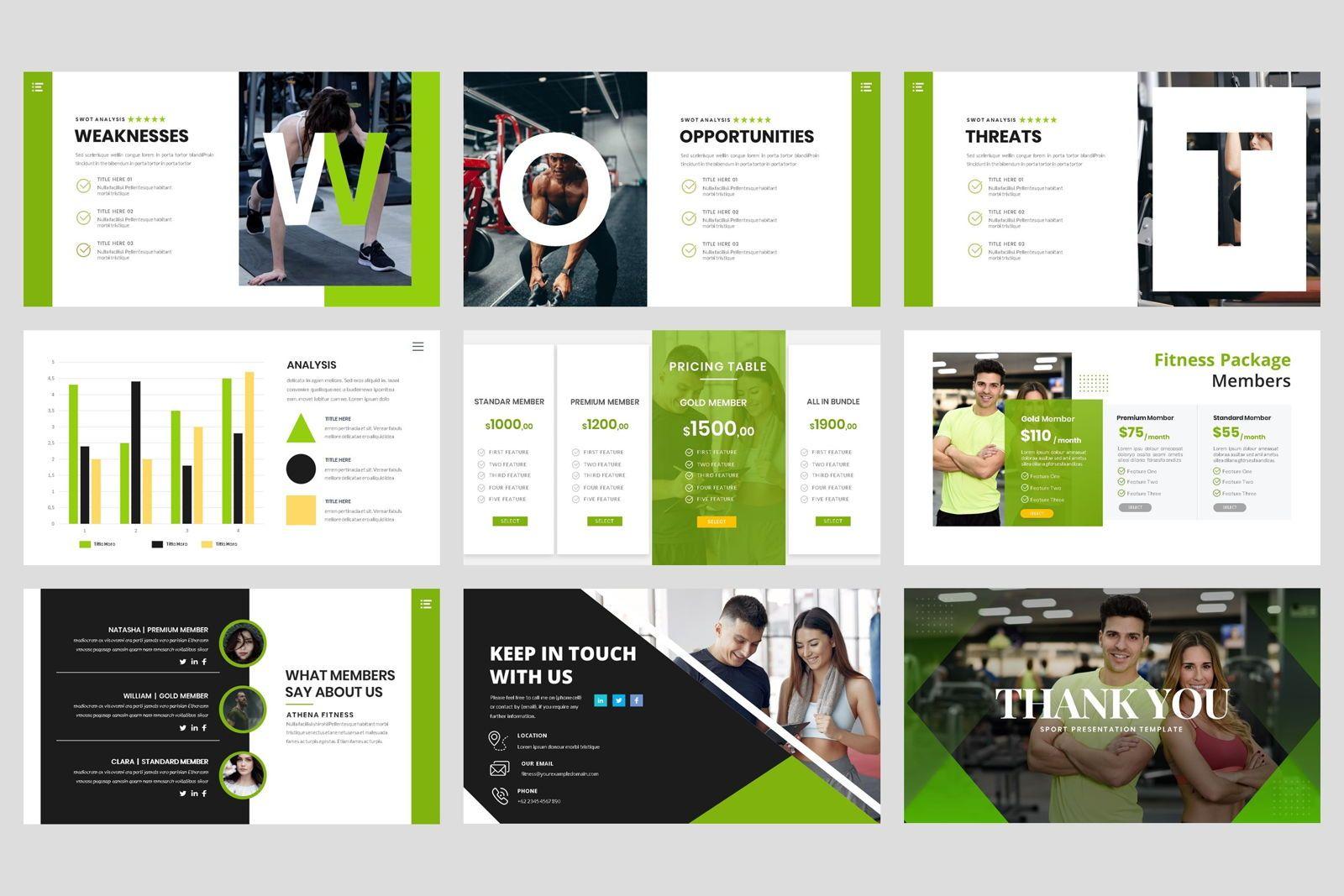 Sport - Fitness Business Workout PowerPoint Template, Slide 5, 08607, Presentation Templates — PoweredTemplate.com