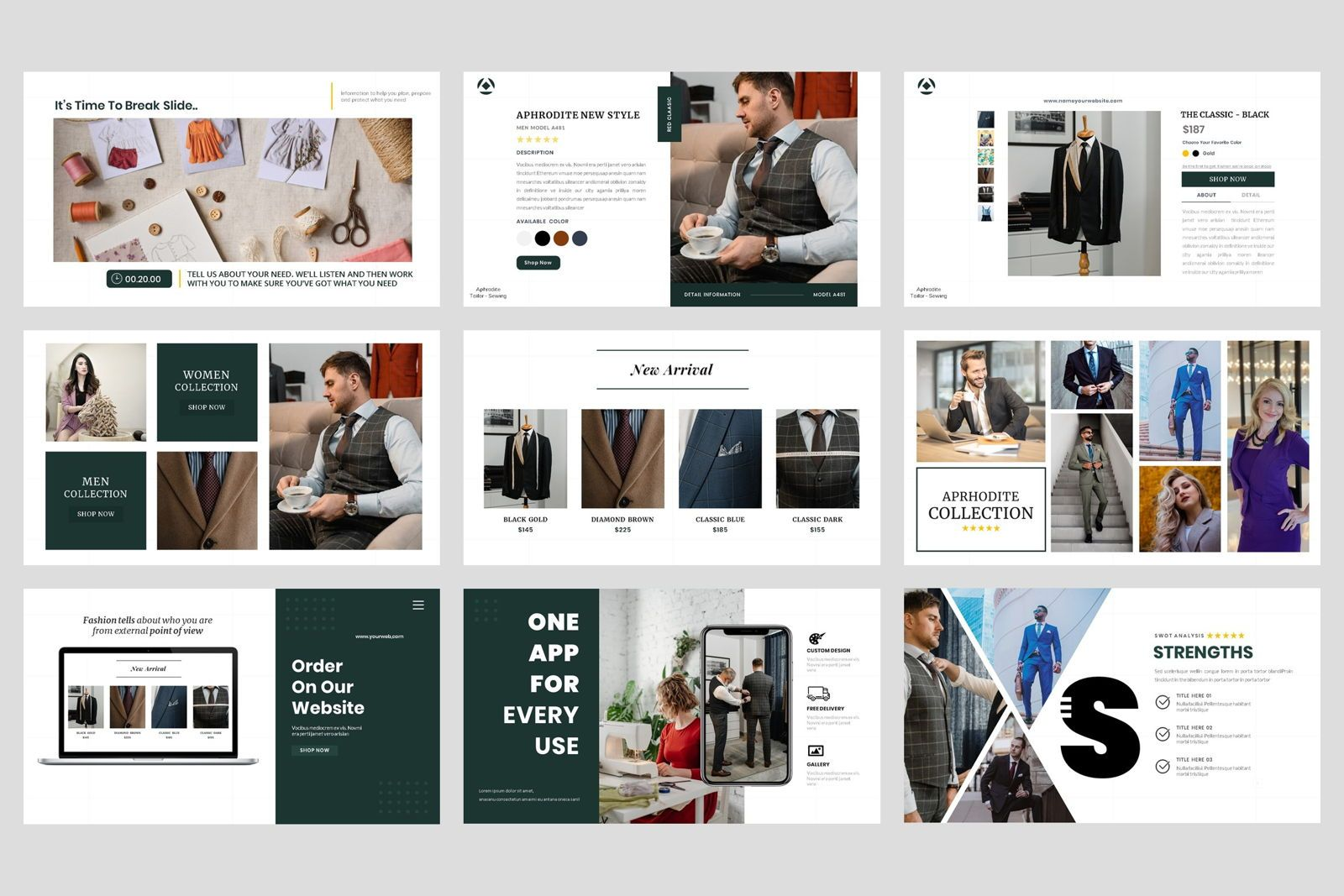Tailor - Sewing Fashion Craft Power Point Template, Slide 4, 08609, Business Models — PoweredTemplate.com