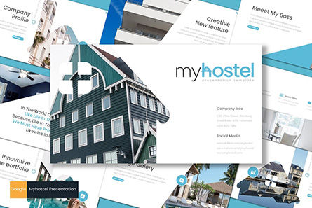 Presentation Templates: Myhostel - Google Slides Template #08610