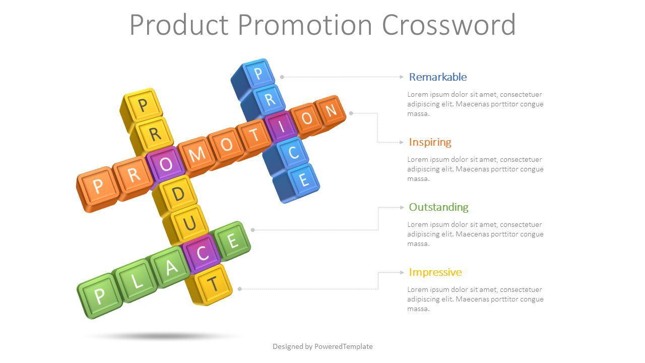 Product Promotion Crossword, 08611, Puzzle Diagrams — PoweredTemplate.com