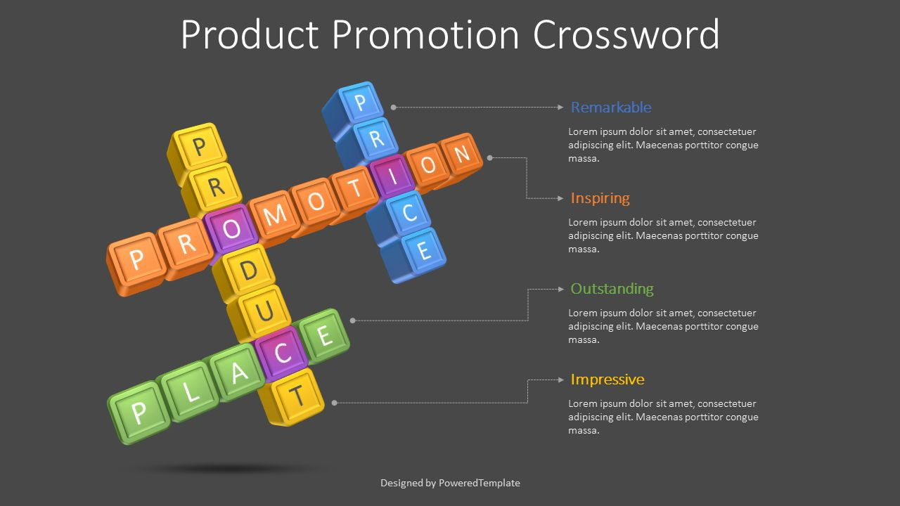 Product Promotion Crossword, Slide 2, 08611, Puzzle Diagrams — PoweredTemplate.com
