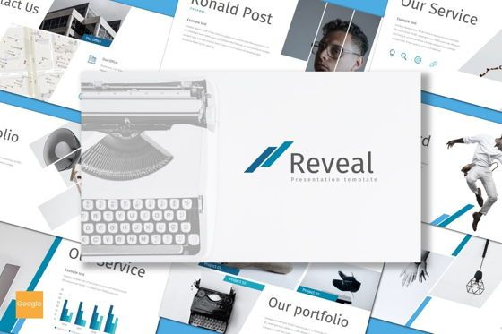 Presentation Templates: Reveal - Google Slides Template #08612
