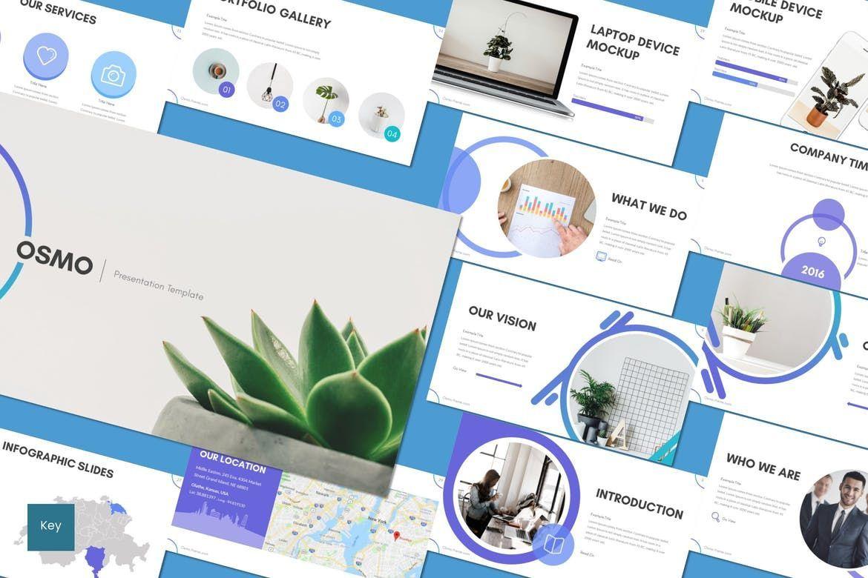 Osmo - Keynote Template, 08613, Presentation Templates — PoweredTemplate.com