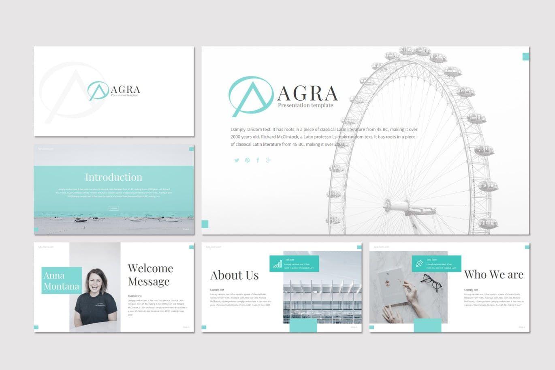 Agra - Google Slides Template, Slide 2, 08615, Presentation Templates — PoweredTemplate.com