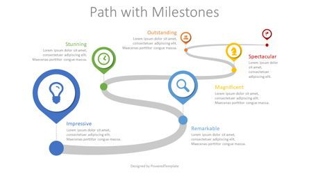 Stage Diagrams: Path with Milestones #08617