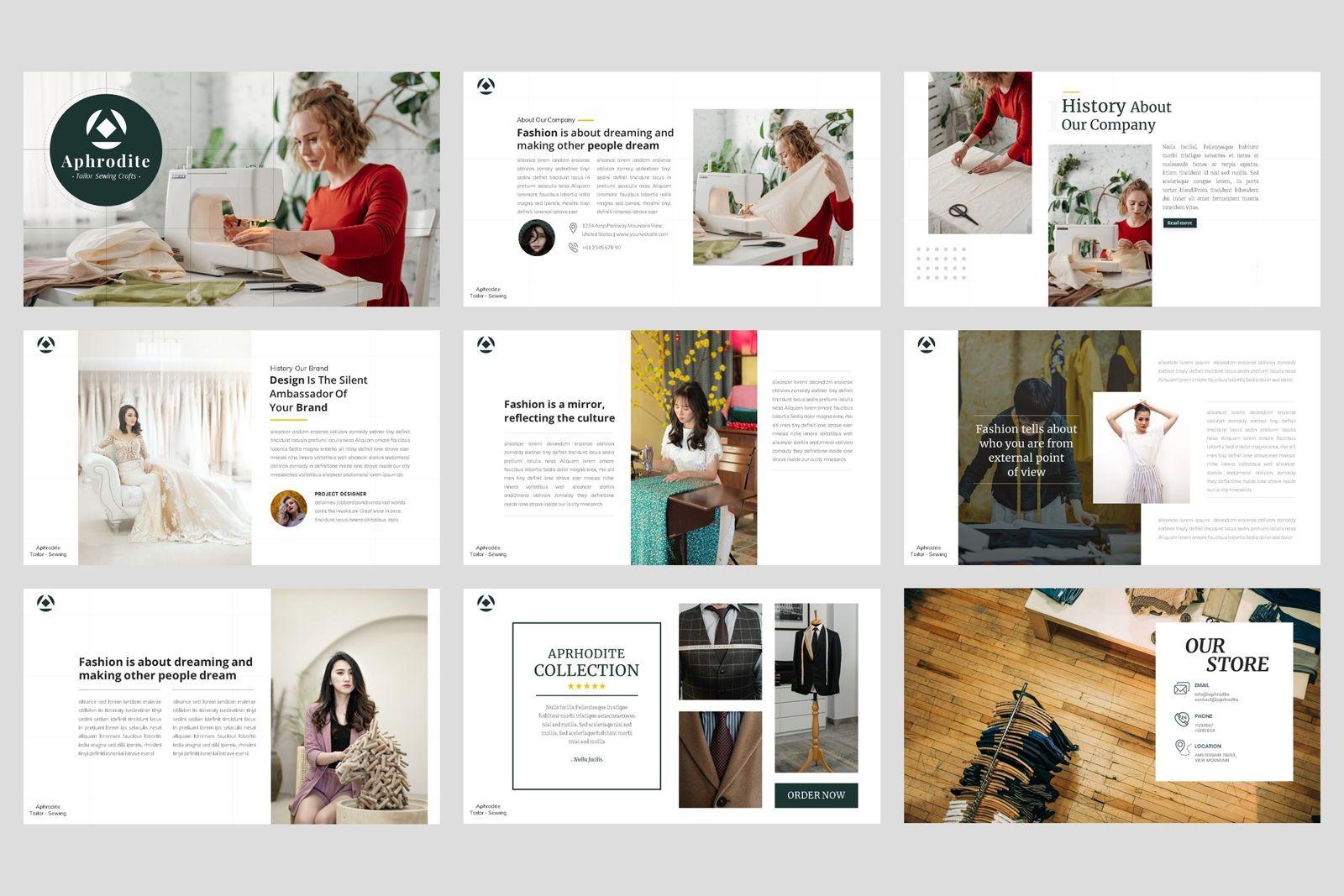 Tailor - Sewing Fashion Craft Google Slide Template, Slide 2, 08621, Business Models — PoweredTemplate.com