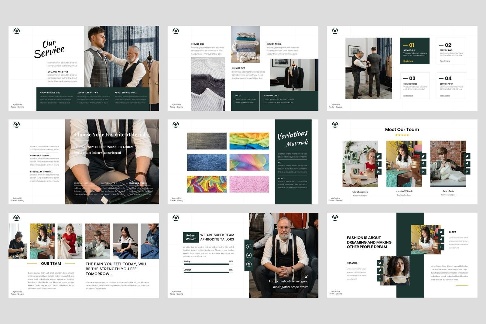 Tailor - Sewing Fashion Craft Google Slide Template, Slide 3, 08621, Business Models — PoweredTemplate.com