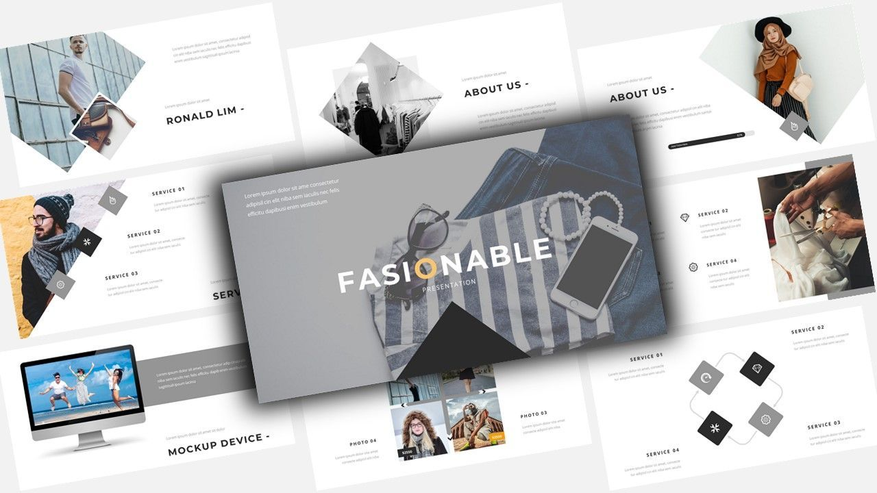 Fasionable - Business PowerPoint Template, 08625, Business Models — PoweredTemplate.com