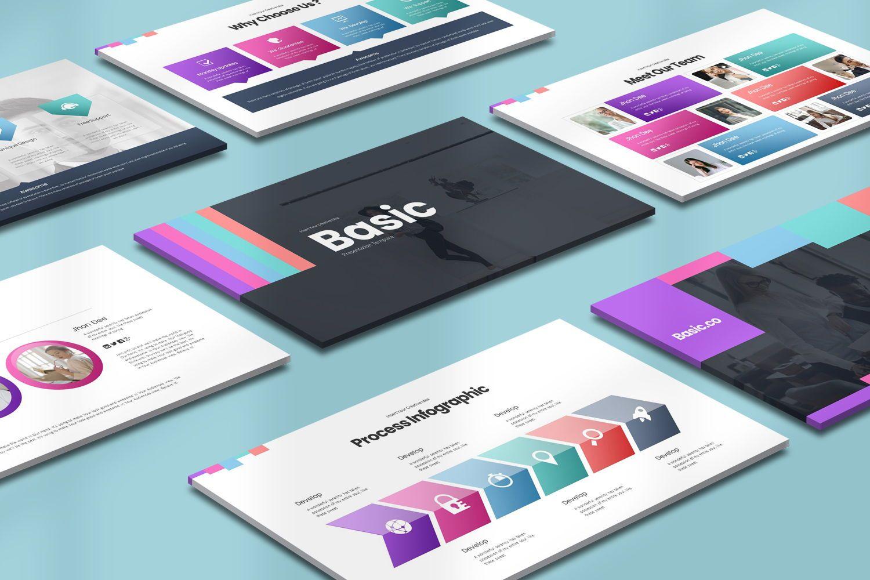 Basic Powerpoint Presentation, 08627, Business Models — PoweredTemplate.com