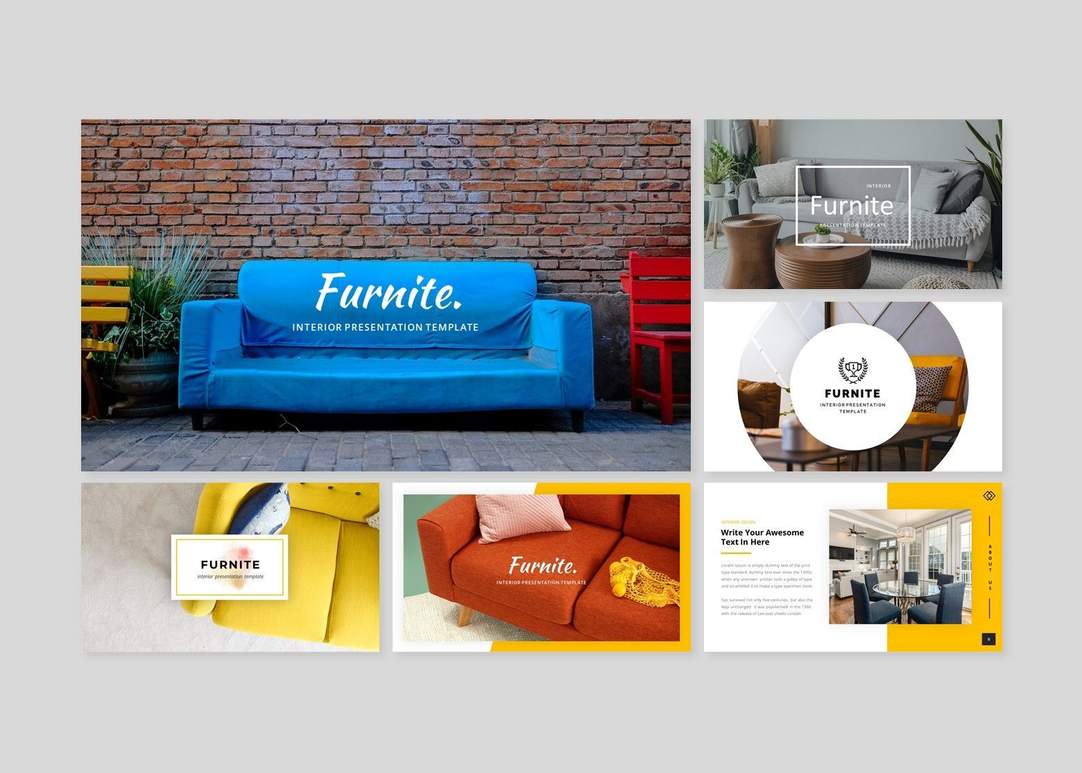 Furnite - Interior Design Google Slides Template, Slide 2, 08628, Business Models — PoweredTemplate.com