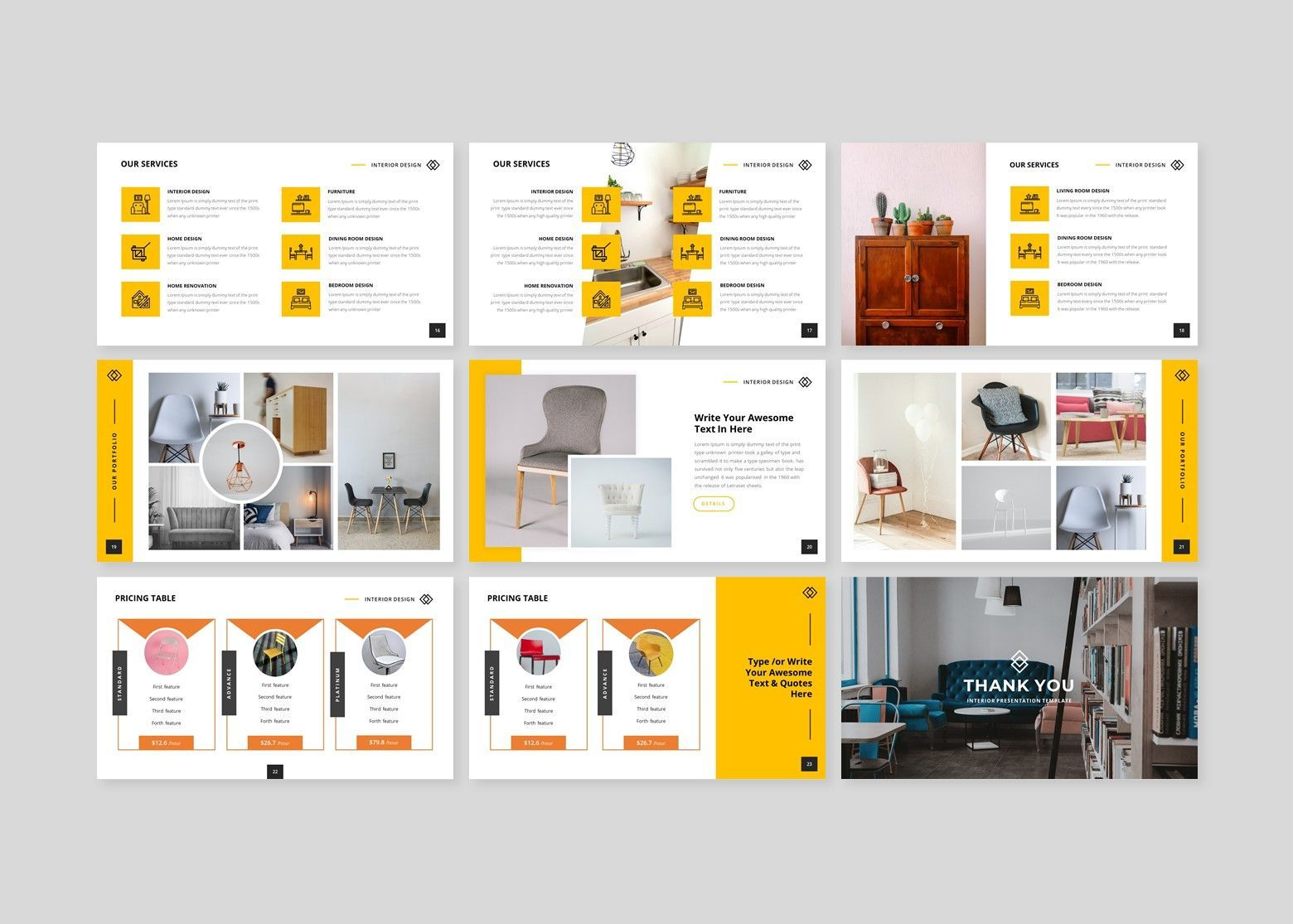 Furnite - Interior Design Google Slides Template, Slide 4, 08628, Business Models — PoweredTemplate.com