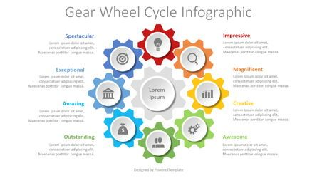 Infographics: Gear Wheel Cycle Infographic #08629