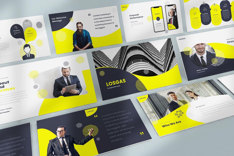 Losgas GoogleSlide Templates, 08630, Business Models — PoweredTemplate.com