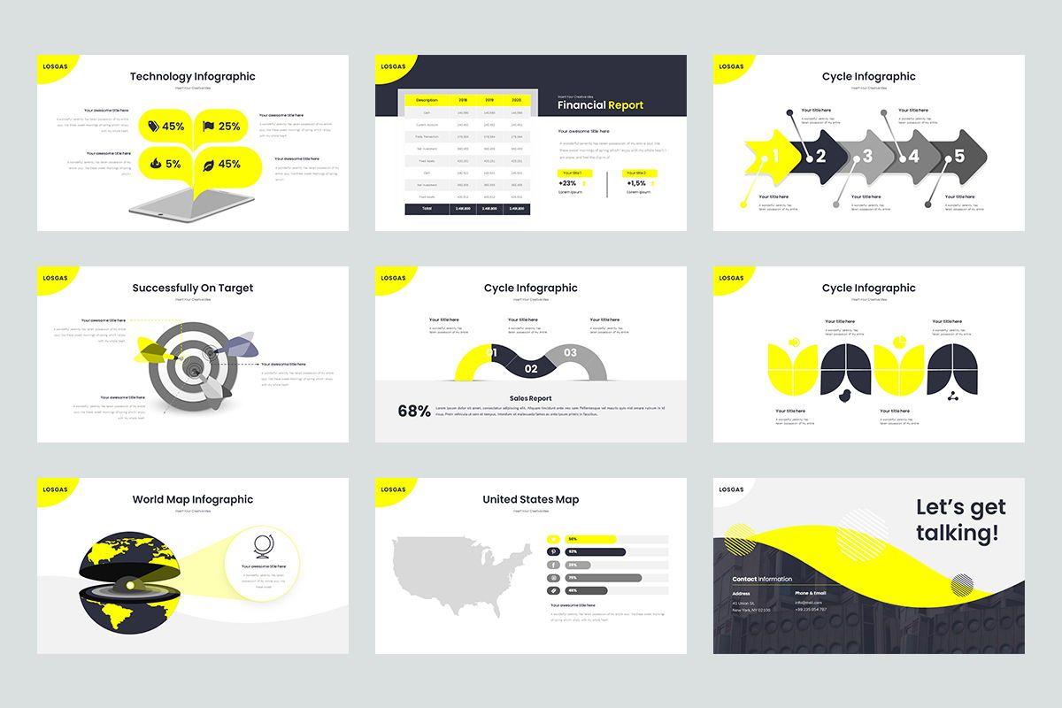 Losgas GoogleSlide Templates, Slide 5, 08630, Business Models — PoweredTemplate.com