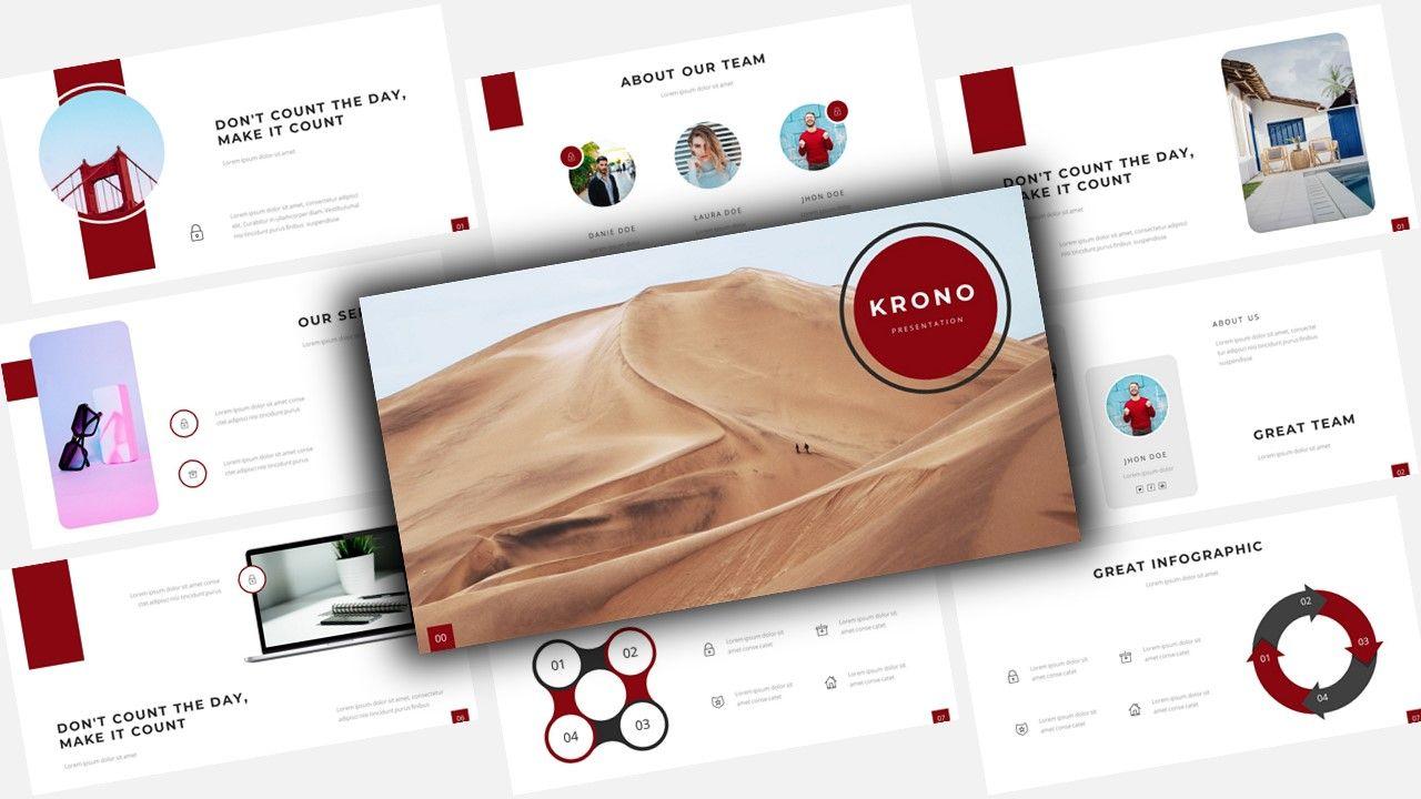 Krono - Security PowerPoint Template, 08631, Business Models — PoweredTemplate.com