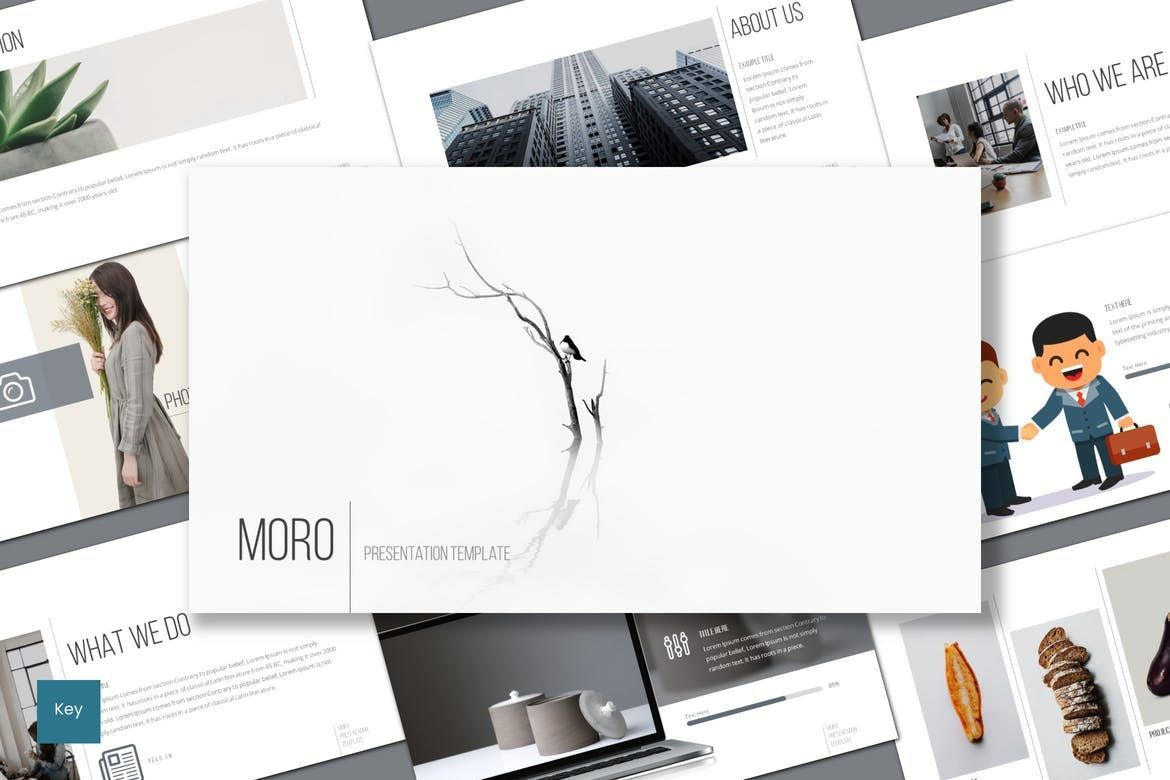 Moro - Keynote Template, 08634, Presentation Templates — PoweredTemplate.com