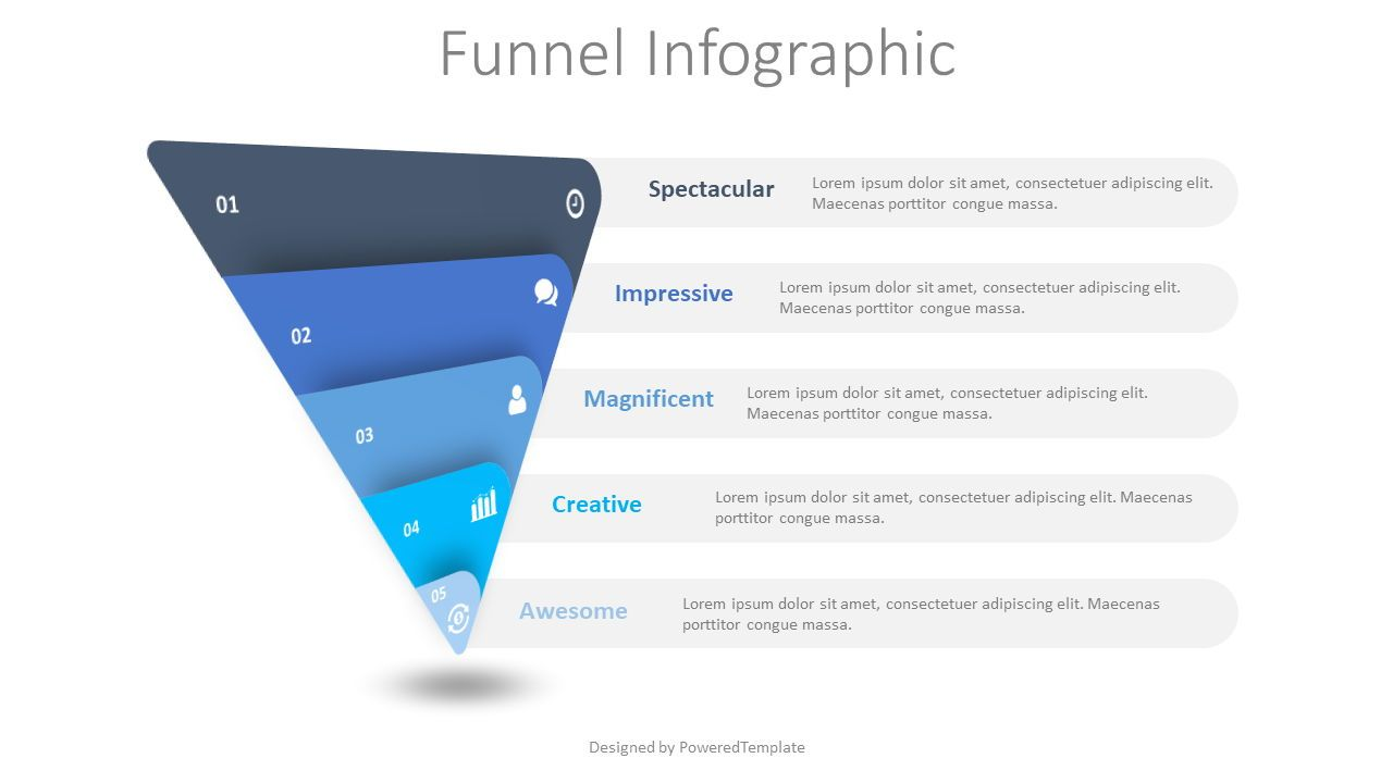 Sales and Marketing Funnel, 08635, Business Models — PoweredTemplate.com