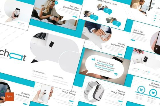 Presentation Templates: Chichat - PowerPoint Template #08636