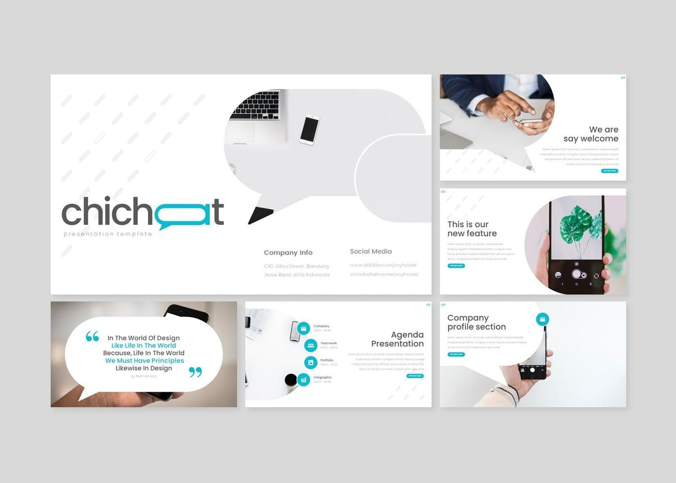 Chichat - PowerPoint Template, Slide 2, 08636, Presentation Templates — PoweredTemplate.com
