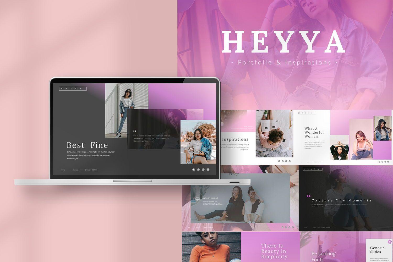 Heyya Powerpoint Presentation, 08639, Icons — PoweredTemplate.com