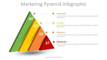 Infographics: Marketing Pyramid Infographic #08641