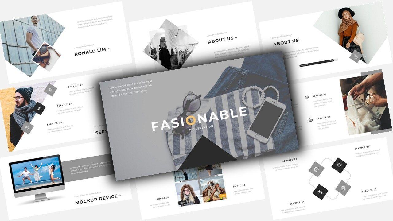 Fasionable – Creative Google Slide Business Template, 08642, Business Models — PoweredTemplate.com