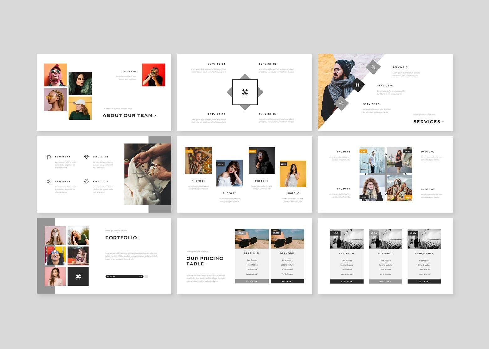Fasionable – Creative Google Slide Business Template, Slide 3, 08642, Business Models — PoweredTemplate.com
