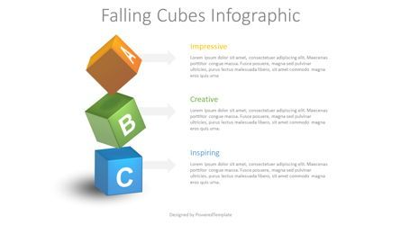 Education Charts and Diagrams: Falling Cubes Infographic #08644