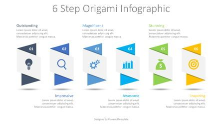 Infographics: 6 Step Origami Infographic #08647