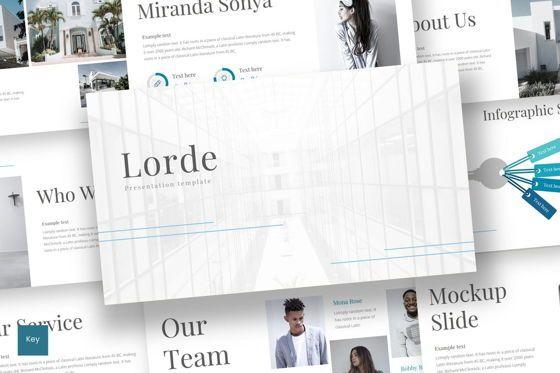Presentation Templates: Lorde - Keynote Template #08652