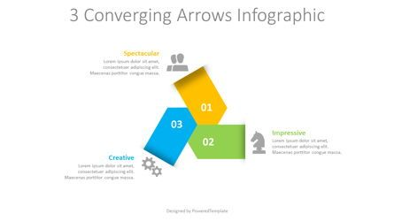 Infographics: 3 Converging Arrows Infographic #08656