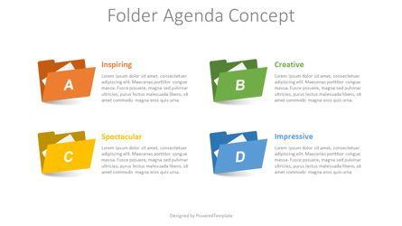 Infographics: Folder Agenda Concept #08659