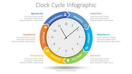 Process Diagrams: Clock Cycle Infographic #08662