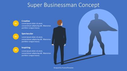 Presentation Templates: Super Businessman Concept #08665