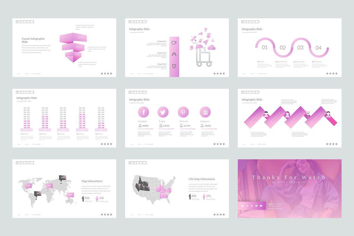 Heyya Google Slide Templates, Slide 5, 08672, Business Models — PoweredTemplate.com