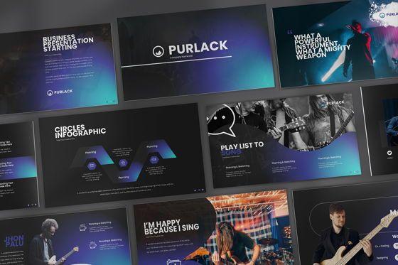 Business Models: Purlack GoogleSlide Templates #08673