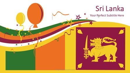 Presentation Templates: Sri Lanka Festive Flag #08675