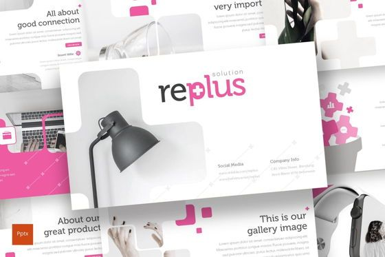 Presentation Templates: Replus - PowerPoint Template #08677