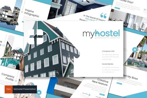 Presentation Templates: Myhostel - PowerPoint Template #08679